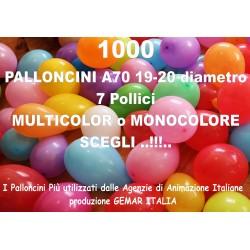 1000 PALLONCINI MULTICOLOR 7 Pollici 19 cm diam. stock