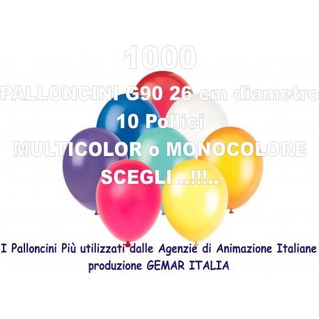 1000 PALLONCINI MULTICOLOR 10 Pollici 26 cm diam. colori pastello stock