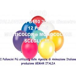 1000 PALLONCINI MULTICOLOR 12 Pollici 30 cm diam. colori pastello stock