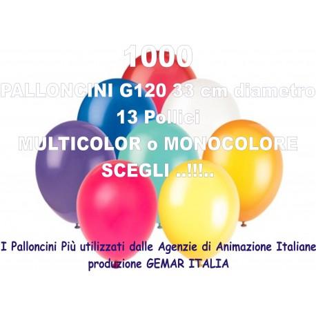 1000 PALLONCINI MULTICOLOR 13 Pollici 33 cm diam. colori pastello stock
