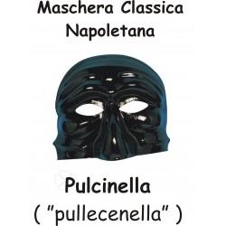 MASCHERA NERA PULCINELLA NAPOLI in PVC Party Festa Travestimento