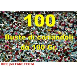 Coriandoli 100 Buste da 100 grammi in cartone