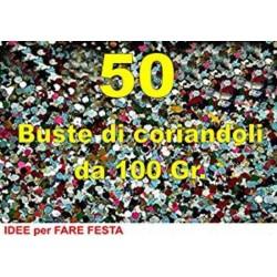 Coriandoli 50 Buste da 100 grammi in cartone