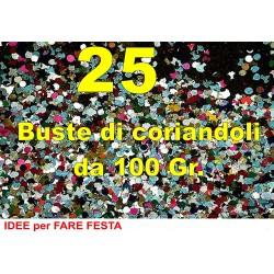 Coriandoli 25 Buste da 100 grammi in cartone