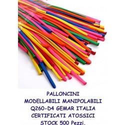 PALLONCINI MODELLABILI MANIPOLABILI 500 Pz. STOCK Q260-D4 GEMAR PARTY FESTA LUDOTECA