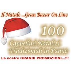 100 Cappello Cappelli Babbo Natale 100 pezzi in panno lenci STOCK