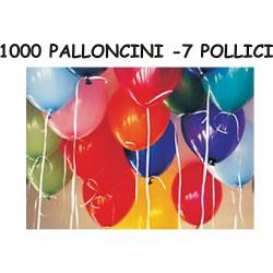 1000 PALLONCINI MULTICOLOR 7 Pollici 20 cm diam.